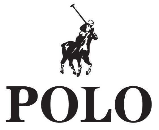 South African Polo - the rider and horse are facing away from the center buttons.
